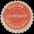Siegelmarke Gemeinde Hausneindorf Kr. Aschersleben W0384178.jpg