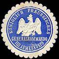 Siegelmarke Königlich Preussisches Generalkommando VIII. Armeekorps W0255833.jpg