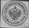 Siegelmarke K.K. Bezirkshauptmannschaft Radmannsdorf Krain W0322973.jpg