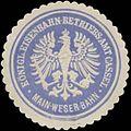 Siegelmarke K. Eisenbahn-Betriebs-Amt Cassel Main-Weser-Bahn W0342764.jpg