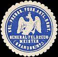 Siegelmarke K. Pr. Fussartillerieregiment General-Feldzeugmeister (Brandenburgisches) No. 3 W0285577.jpg