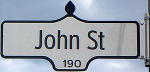 John Street (Toronto) - Image: Sign at 190 John Street