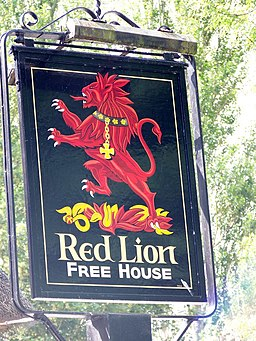 Sign for the Red Lion - geograph.org.uk - 1427228