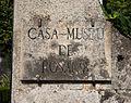 Sign in the Rosalía de Castro Museum in Iria Flavia, Padrón, Galicia, Spain.jpg
