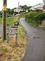 Sign on the South West Coast Path - geograph.org.uk - 1604220.jpg
