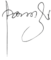 Signature of the Rebbe - Menachem M. Schneerson.png