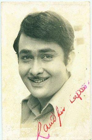 Randhir Kapoor - Signed photograph of Randhir Kapoor