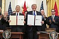 Signing Ceremony Phase One Trade Deal Between the U.S. & China (49391630992).jpg