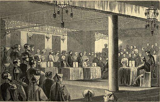 Signing the Treaty of Tientsin