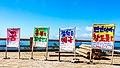 Signs at the top of the Masikryong Ski Resort (21535572790).jpg