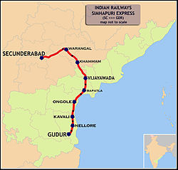 Simhapuri Express (Secunderabad - Gudur) Route map.jpg