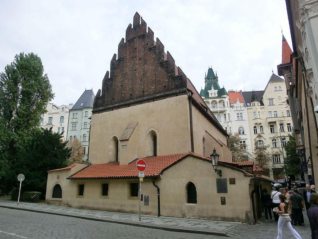 Synagogue Vieille Neuve de Prague de l'extérieur.