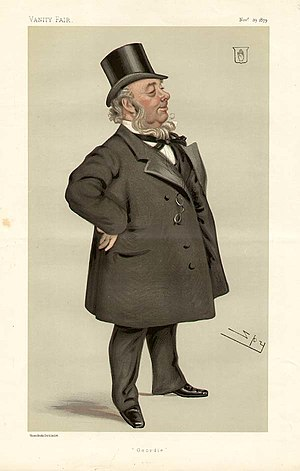 "Sir George Elliot, 1st Baronet - ""Geordie"": Elliot as caricatured by Spy (Leslie Ward) in Vanity Fair, November 1879"