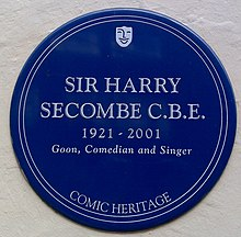 Sir Harry Secombe plaque (3412015135).jpg