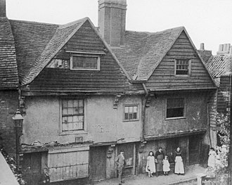 Coldharbour, Tower Hamlets - Raleigh's house at Blackwall, London, 1873.