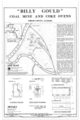 Site Plan, Foundation Remnant, Steam Engine Foundation, and details - Billy Gould Coal Mine, Confluence of Cahaba River and Buck Creek, Helena, Shelby County, AL HAER ALA,59-HEL,1- (sheet 1 of 1).png
