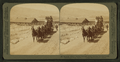 Six-horse tally-ho leaving mountain walled Gardiner for trip through Yellowstone Park, U.S.A, by Underwood & Underwood.png