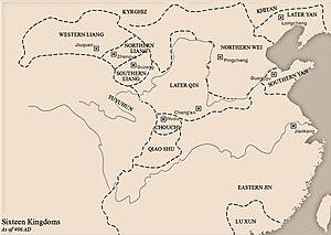Western Liang (Sixteen Kingdoms) - Image: Sixteen Kingdoms 406 AD