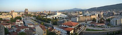 Skopje - panorama from fortress.JPG