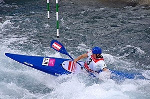 Slalom canoeing 2012 Olympics W K1 AUT Corinna Kuhnle (2).jpg