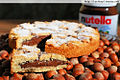 Slice of crostata alla Nutella for World Nutella Day.jpg