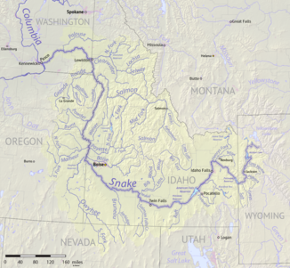 Área de captação do Rio Snake