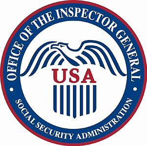Welfare fraud - Seal of the Social Security Administration Office of Inspector General, which investigates welfare fraud