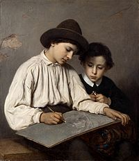 Sofie Ribbing - Ritande gossar (1866).jpg