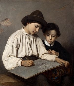 Sofie Ribbing - Image: Sofie Ribbing Ritande gossar (1866)