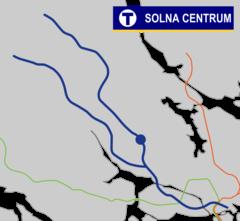 Solna centrum Tunnelbana.png