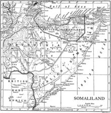 1911 map of somalia showing italian somaliland and british somaliland including berbera