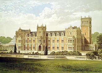 Somerleyton Hall - Somerleyton Hall in 1880. The Winter Garden (conservatory) on the left was demolished in 1914
