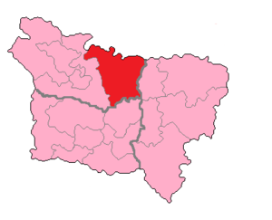 Somme's 5th constituency - Somme's 5th Constituency shown within Picardie.