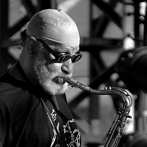 Outdoor portrait of Sonny Rollins, american ja...