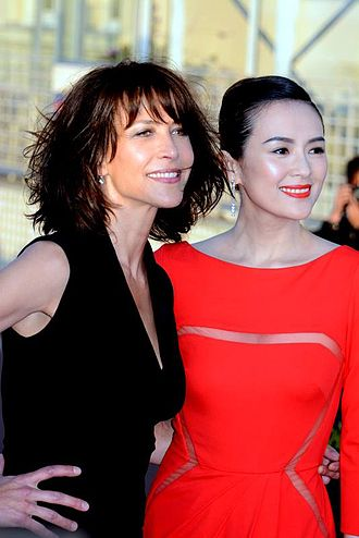 Movie star - Two movie stars, Sophie Marceau and Zhang Ziyi, respectively from France and China, at the Cabourg Film Festival in June 2014.