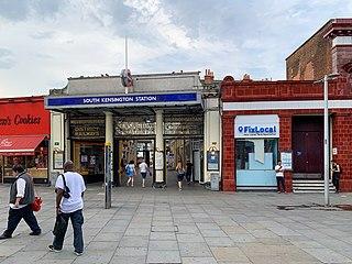 South Kensington tube station London Underground station