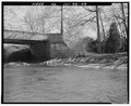 South abutment, looking southeast. - Pendleton Avenue Bridge, Spanning Fall Creek, Pendleton, Madison County, IN HAER IND,48-PEN,1-9.tif