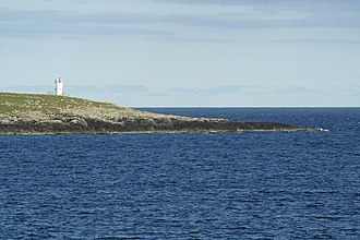 Balta, Shetland - South end of the Isle of Balta and lighthouse