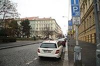 South view of Šumavská street in Vinohrady, Prague.jpg