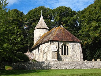 Southease - Image: Southease Church,from the east