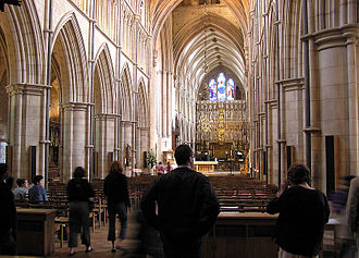 Southwark Cathedral - The nave of Southwark Cathedral.