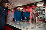 Soyuz MS-08 backup crew during a tour of the museum in Baikonur.jpg