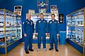 Soyuz TMA-20M crew at the Korolev Museum in Baikonur.jpg