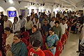Spectators in Mourning for APJ Abdul Kalam - Biswatosh Sengupta Solo Exhibition Inauguration - Kolkata 2015-07-28 3161.JPG