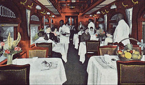 Spokane, Portland and Seattle Railway - Dining car of the North Bank Limited