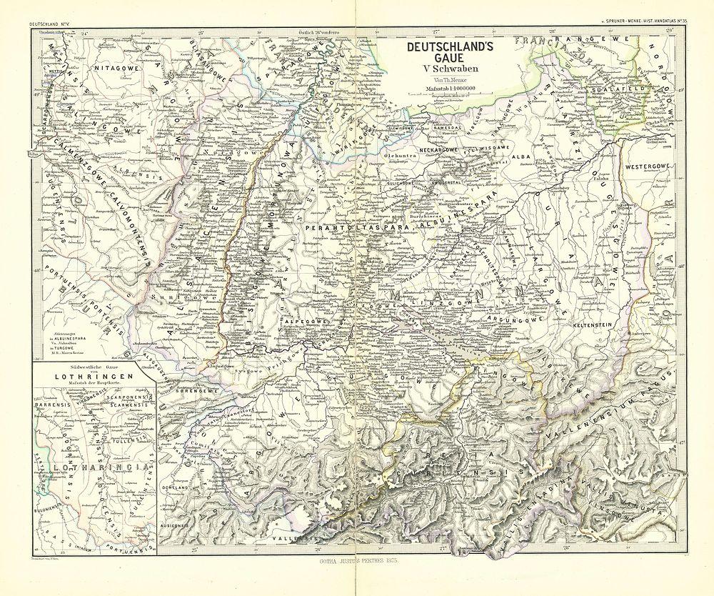 Schwaben Karte Deutschland.Spruner Menke Handatlas 1880 Karte 35 Wikisource