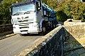 Squeezing across the bridge. - geograph.org.uk - 596735.jpg