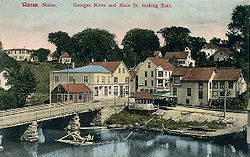 St. George River and Main Street c. 1908