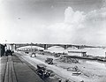 St. Louis levee, view north toward Eads Bridge with the wharf boat of the Steamer Mary S. Blees.jpg