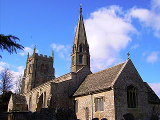 St Andrews Church, Wanborough Church in Wiltshire, England